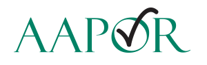 AAPOR logo American Association of Public Opinion Research